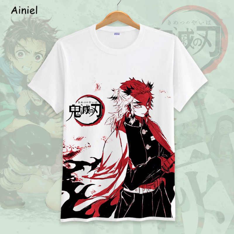 Demon Slayer: Kimetsu no Yaiba Kamado Косплей рубашка костюмы Kamado Nezuko футболка для мужчин 3D футболка для девочек Дети Мальчики