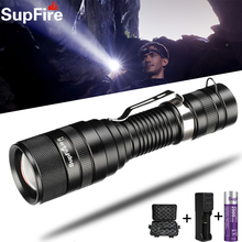 Supfire F5 LED Glare Flashlight Rechargeable Waterproof Focusing Bicycle Searchlight Climbing Camping Military Portable Torch