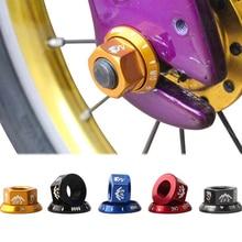 2 Pcs/set Bicycle Wheel Nuts Bike Hub Nuts M10 Fixed Gear Screw Bolt Fastener For MTB Road Bike Aluminum Alloy Bicycle Hub Nuts shimano ultegra wh 6800 road bike bicycle aluminum wheel front