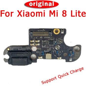 Original Charging Port For Xiaomi Mi 8 Lite Mi8 Charge Board USB Plug PCB Dock Connector Flex Cable Replacement Spare Parts