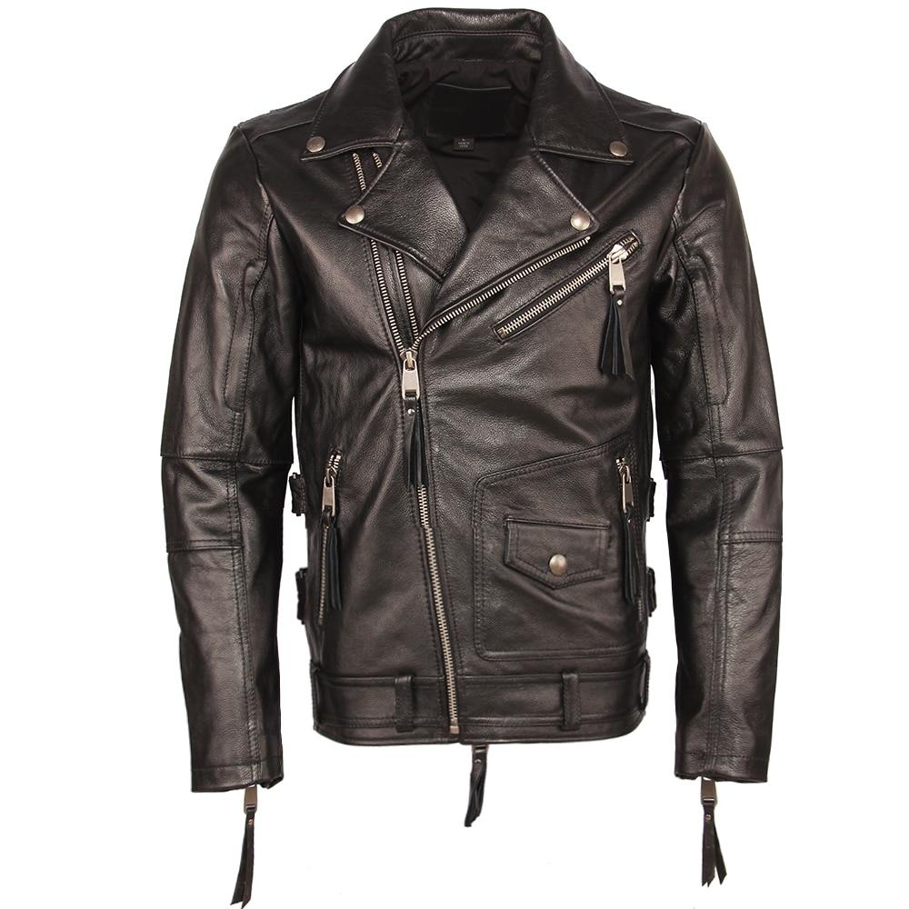 Hb6c96679554a443c8a3128bccae24e2ej Vintage Motorcycle Jacket Slim Fit Thick Men Leather Jacket 100% Cowhide Moto Biker Jacket Man Leather Coat Winter Warm M455