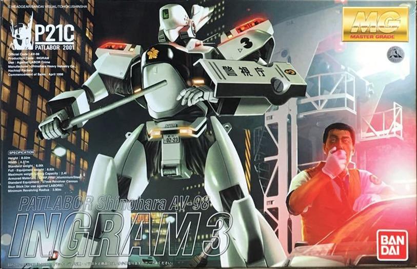 """with Lights Bandai Hobby Ingram 2 /""""Patlabor/"""" Bandai Master Grade Action Figure"""
