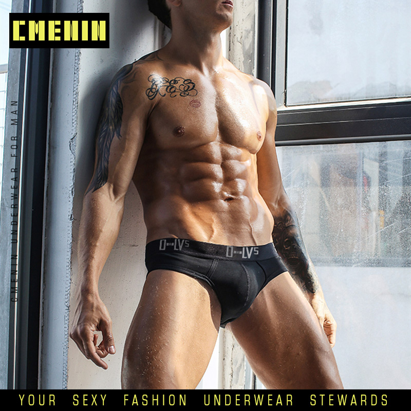 High Quality Cotton Sexy Gay Men Underwear Bikini Men Briefs LOGO ComfortableMens Briefs Underwear Shorts Men's Lingerie OR209