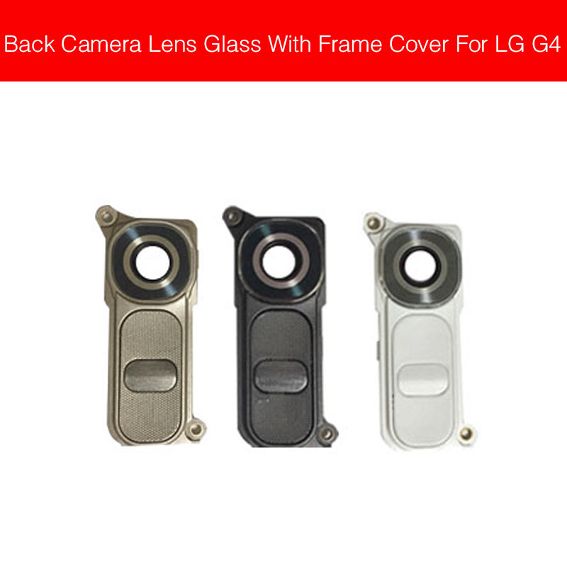 Rear Camera Lens with Frame Holder For LG G4 F500K F500L F500S H810 H815 H818 LS991 Back Camera Cover + Glass Lens Replacement image