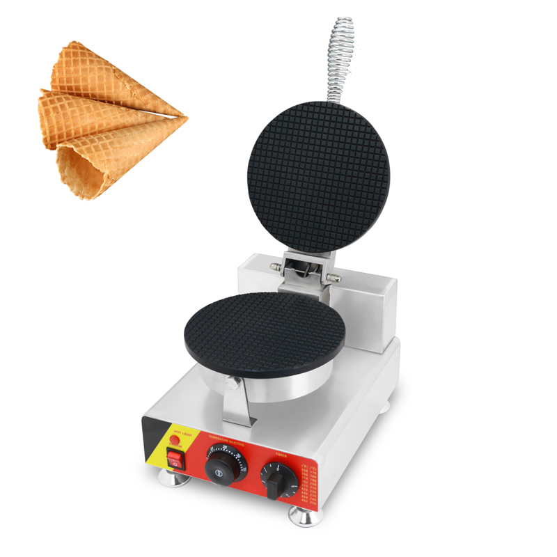SUCREXU Commercial Electric Ice Cream Waffle Cone Baker Maker Machine Nonstick Irons Crepe Machines CE