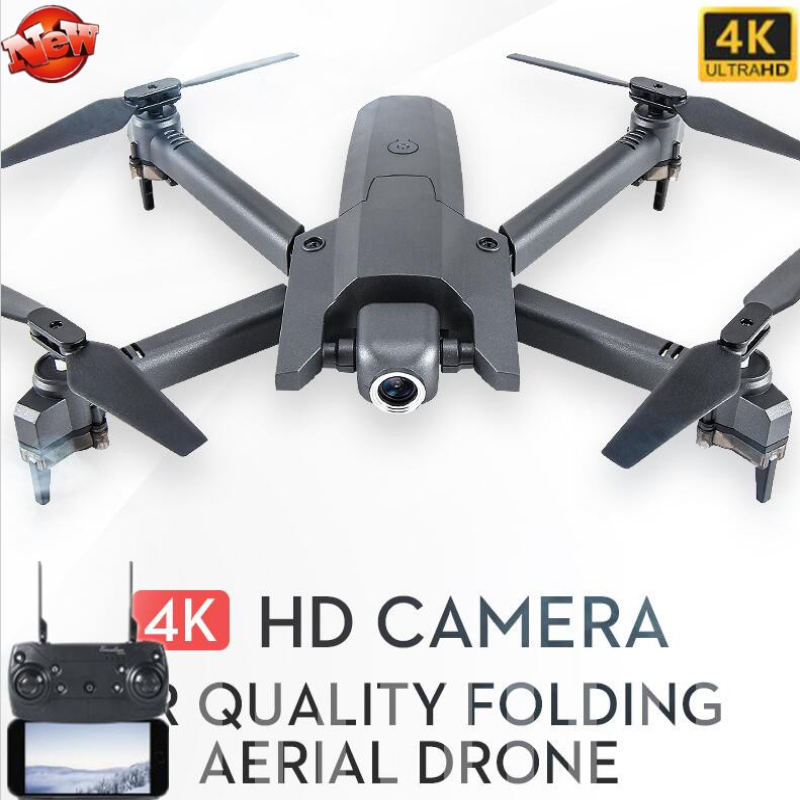 4K UHD Selfie WIFI FPV RC Drone Foldable Drone Arm Smart Photo Follow Adjustable Camera Optical Flow Positioning WIFI Helicopter image