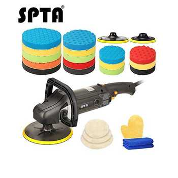 SPTA 7 Inch 178mm Rotary Polisher Car Polisher Electric Polisher Ro Polisher & Polishing Pads Set For Auto Buffing And Polishing - DISCOUNT ITEM  50% OFF All Category