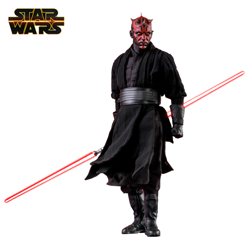 Disney Star Wars 15cm Darth Maul Action Figure Model Detachable Replacement Of Arms And Heads Limited Collection Toy Kids Gifts