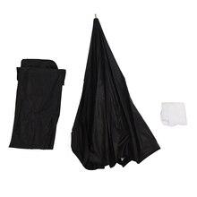 80 سنتيمتر/31.5in المثمن مظلة سوفت بوكس عاكس الناشر مع ألياف الكربون قوس ل Speedlite ضوء فلاش الفضة أسود