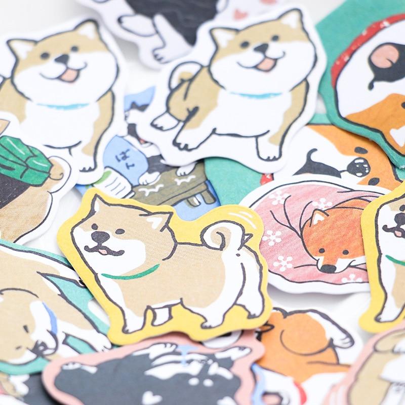 30 pcs//lot Cute Dog Shiba Inu Akita Husky Label Stickers Decorative Stationery