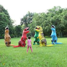 Adult Inflatable Costume Dinosaur Mascot Cosplay Costumes For Men Women Kids Cartoon