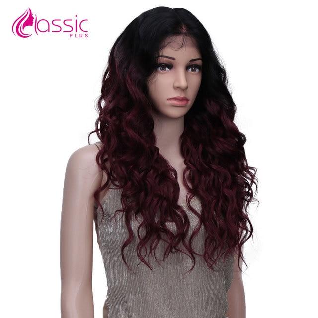 Фото классический плюс 13*4 синтетический кружевной парик для черных