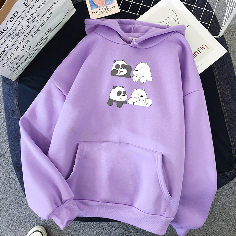 Women Sweatshirts Harajuku Printed Long-Sleeved Hoodie With Pocket Casual Pullovers Kawaii Hoodies