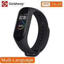 Originale Xiao mi mi fascia 4 Smartband bracciale Fitness frequenza Cardiaca Tracker Display A Colori Di Sport impermeabile Mi Fascia 3 aggiornamento