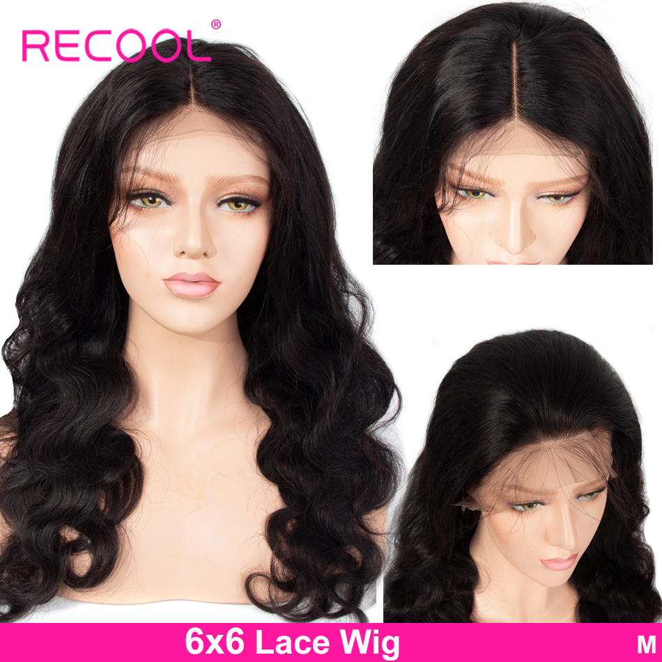 Recool Body Wave Wig 6X6 Lace Closure Wig 10 24 Inch Lace Human Hair Wigs Pre Innrech Market.com