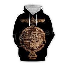 Tessffel Unisex Viking Tattoo Warriors Tracksuit NewFashion casual MenWomen 3DPrint Sweatshirts/Hoodie/shirts/Jacket s-3