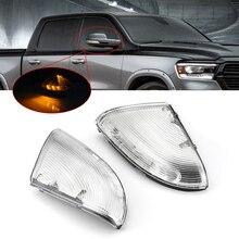 Beyaz yan ayna Marker işık lambaları 09 13 Dodge Ram 1500 2500 araba yan ayna dönüş sinyal ışıkları 12V