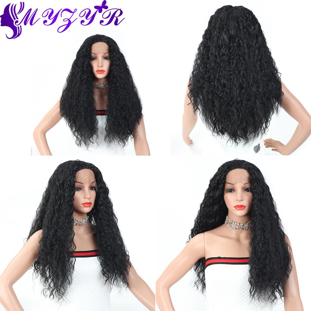 ZYR 26inches Long Water Wave 13X3 Lace Front Wig Middle Parting High Temperature Heat Resistant Synthetic Fiber Hair