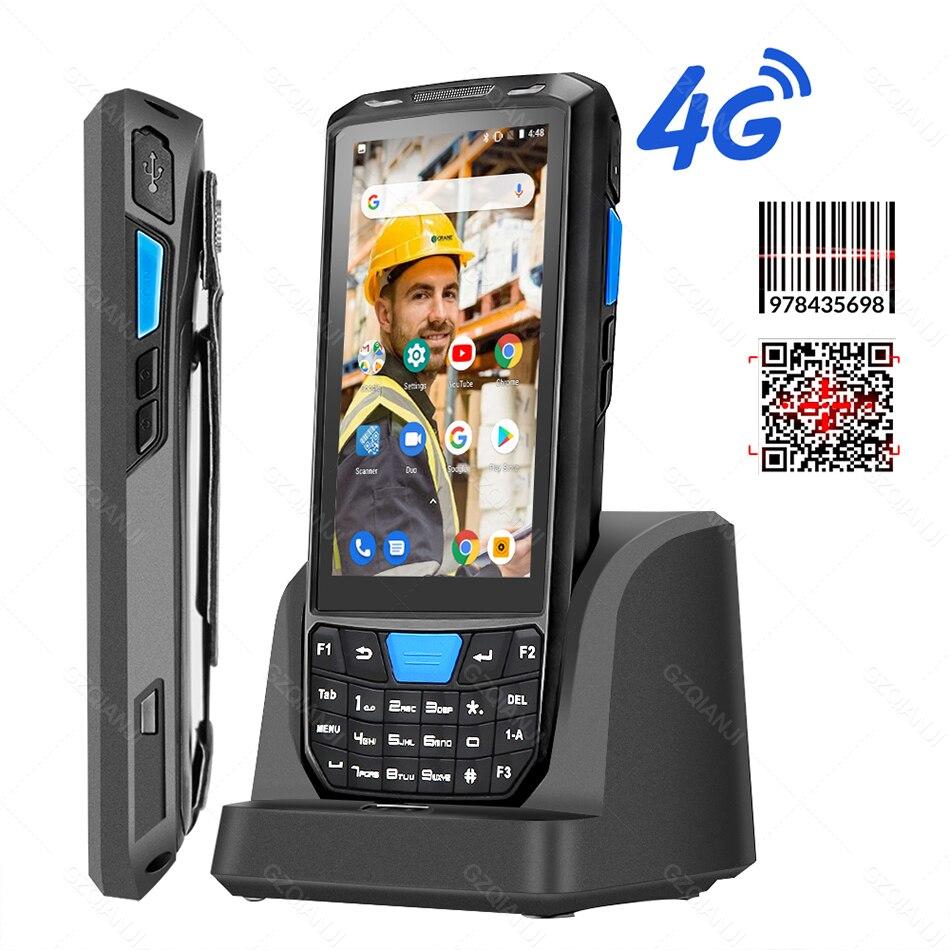 Android 8,1, промышленный прочный КПК, портативный POS-терминал, лазерный сканер штрих-кода, поддержка беспроводного Wi-Fi, 4G BT, для склада, экспресс