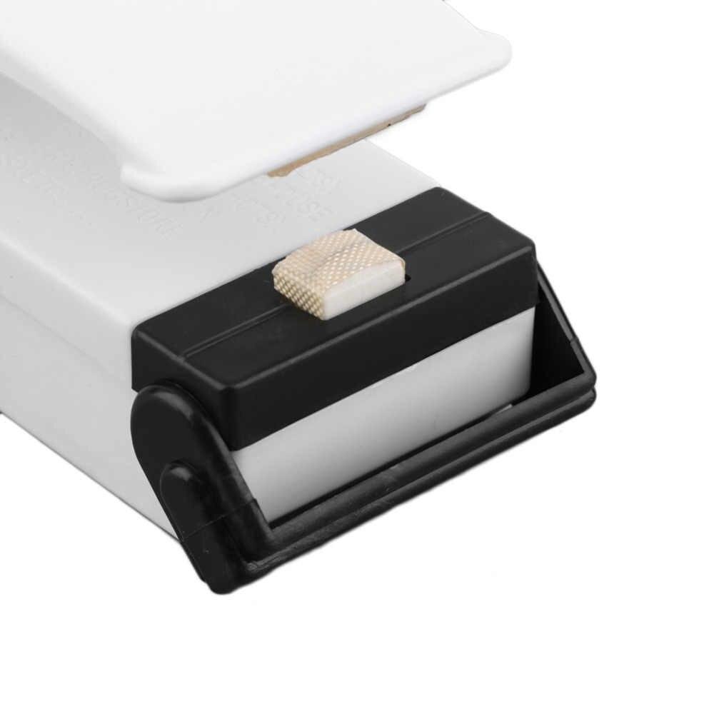 Mini bolso casa máquina de selagem lanches saco aferidor do calor vácuo resealer saco portátil cilps acessível máquina selagem