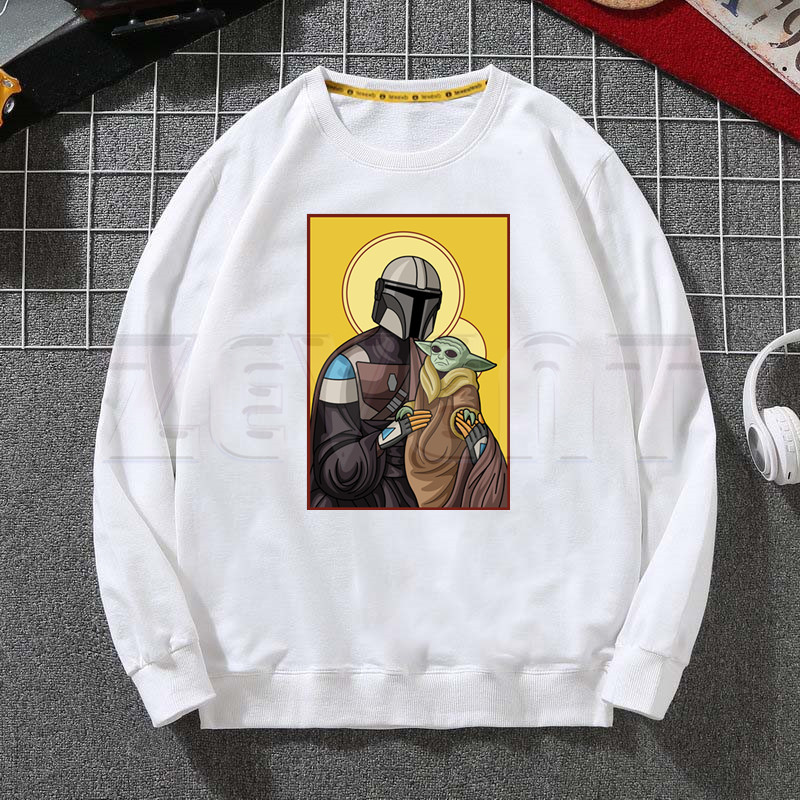 Baby Yoda Mandalorian Hoodies Sweatshirts Hooded Harajuku Star Wars  Men/Women Classic Satanist Moive Graphic Clothes Custom