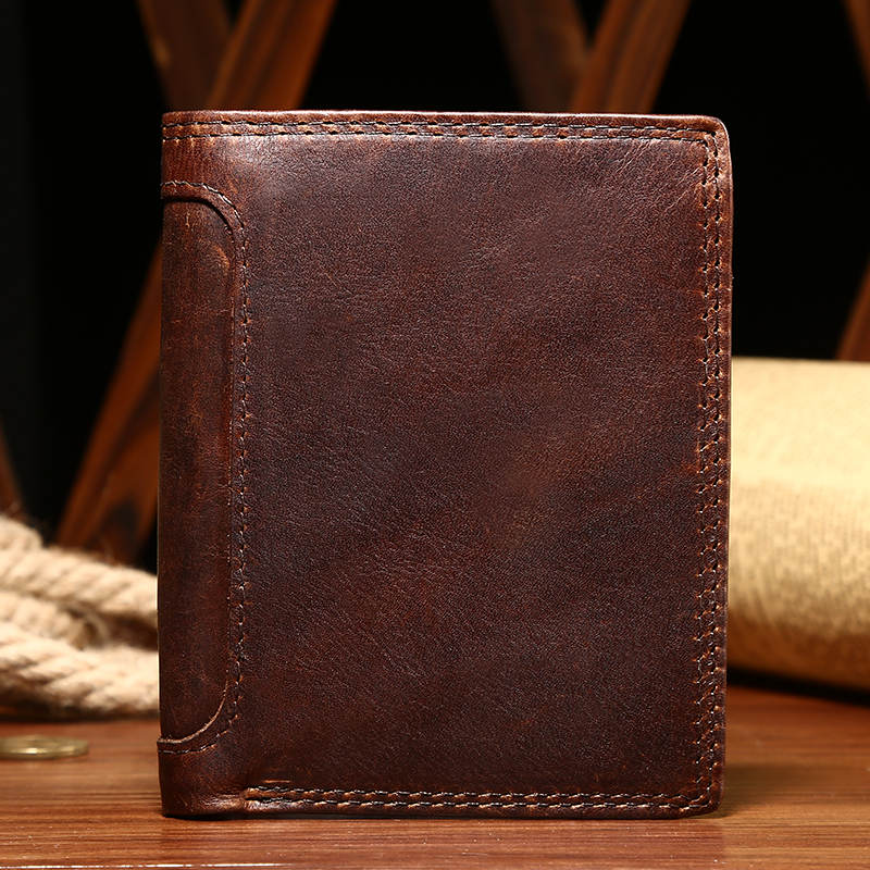 Men Wallets Genuine Leather Wallet Short Small Wallet Mini Wallet Slim Pures Coin Purse Money Bag ID Credit Card Holder