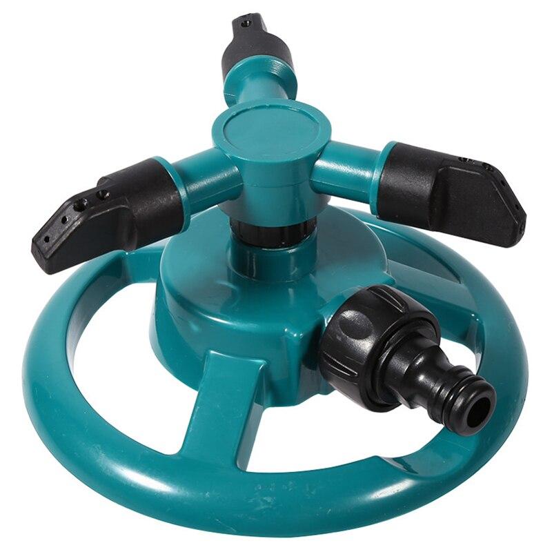 Garten Sprinkler Wasser Haltbare Dreh Drei Düse Arm Rohr Schlauch Sprinkler 360 Grad Automatische Rotierenden Wasser Sprinkler System