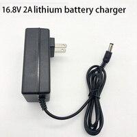 Dc 21 v/1a 8.4 v/2a 16.8 v/2a carregador de bateria de lítio dc5.5mm * 2.1mm 1m carregamento adaptador proteção contra sobrecarga
