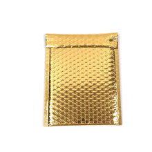 100Pcs Bubble Mailers Bright Gold Bubble Envelopes Waterproof Bubble Bag Shockproof Packaging Shipping Bag 18x23cm