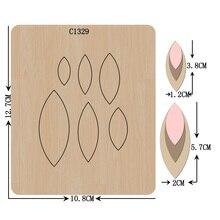 חדש עגילים, תליון עץ למות רעיונות C 1329 חיתוך מת גדלים מרובים