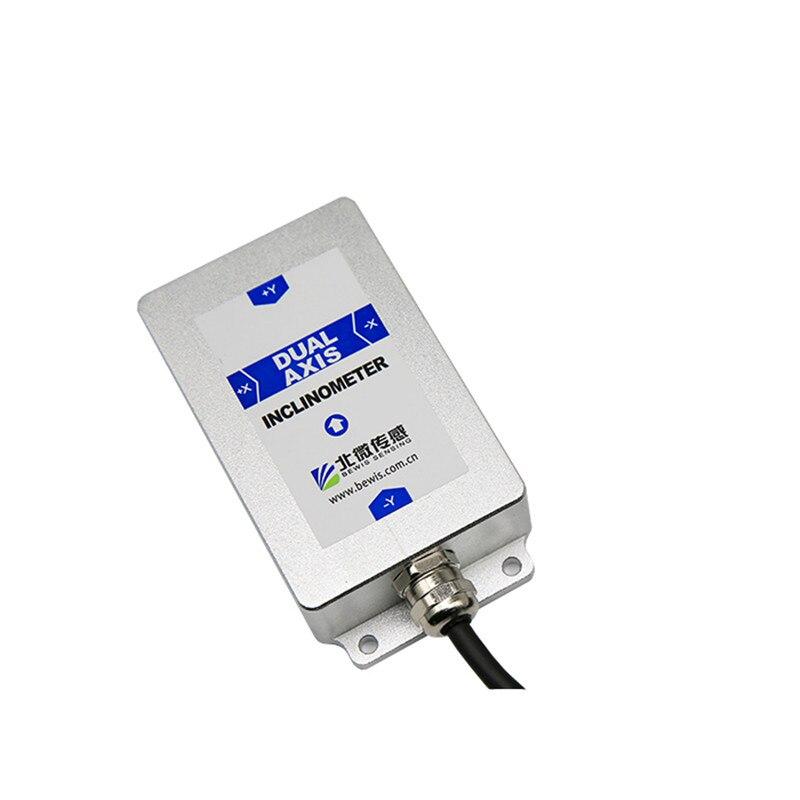 BWS4200 כפולה ציר Inclinometer זווית הטיה חיישן נטייה עם דיוק 0.008 רזולוציה 0.001 0-5 V/0- 10V (אופציונלי) RS232