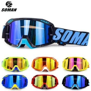 SOMAN las Gafas De motocicleta suciedad bicicleta Motocross Gafas Motocross bien Gafas para Moto Gafas De la Cruz De la motocicleta del casco De Gafas