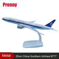 20cm China Southern Airlines B777 Airplane Model Southern Airbus Airways Model Metal Aircraft Boeing 777 Aviation Model Toys