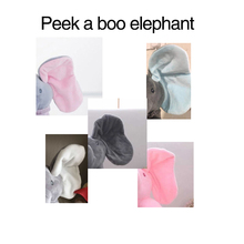 30cm Peek a Elephant Stuffed Plush Doll Electric Toy Talking Singing Musical Toy Elephant Play Hide and Seek for Kids toys