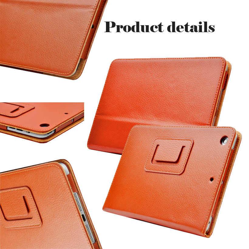Ipad のミニ 1 2 3 マットライチソフト PU 人工皮革ケース磁気睡眠/ウェイクアップフリップカバー ipad のミニケース網膜