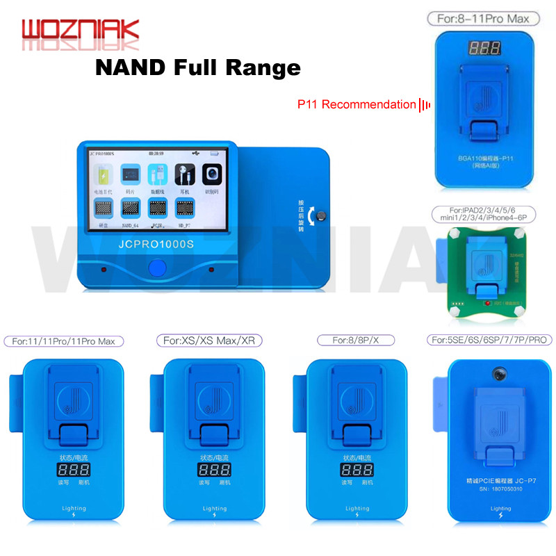 JC P7 P11 PR01000S Programmer For Iphone 4 5 6 7 8 PLUS X XS 11 PRO MAX NAND Reading Writing For IPAD 2 3 4 5 6 HDD Repair