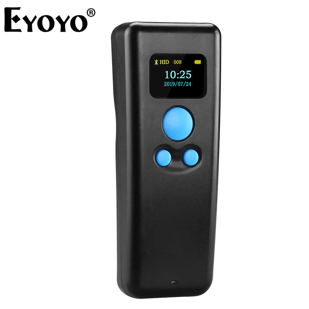 Eyoyo BT55 Portable 1d haute vitesse Portable bluetooth code à barres QR code 3 en 1scanner pistolet compatible avec diverses applications et ordinateur