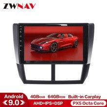 Carplay DSP 4G + 64G Android 9,0 coche multimedia reproductor de Subaru Forester 2008-2013 GPS Glonass navi radio Estéreo unidad mapa gratuito