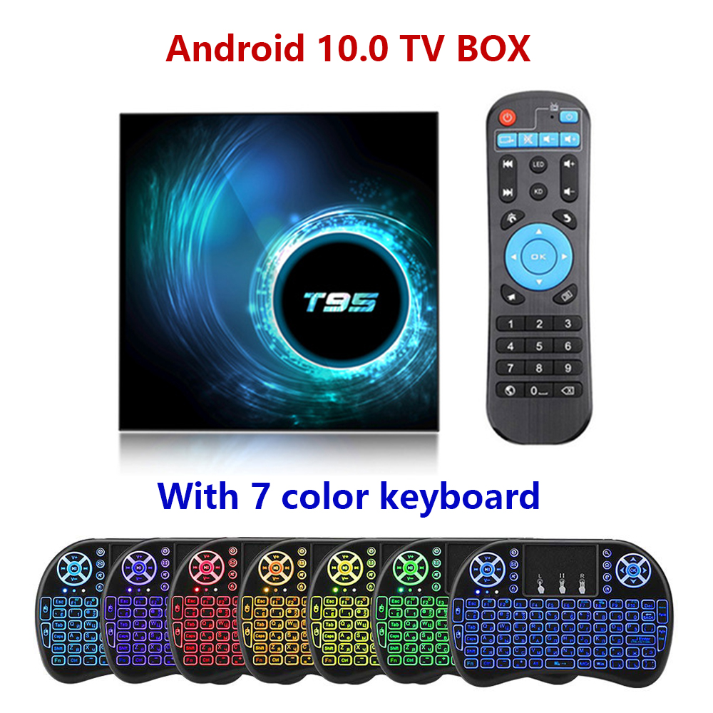 T95 Android TV BOX Android 10.0 Smart TV Box Support 6K H616 Quad Core Media player Play Store App Fast Set top BOX image