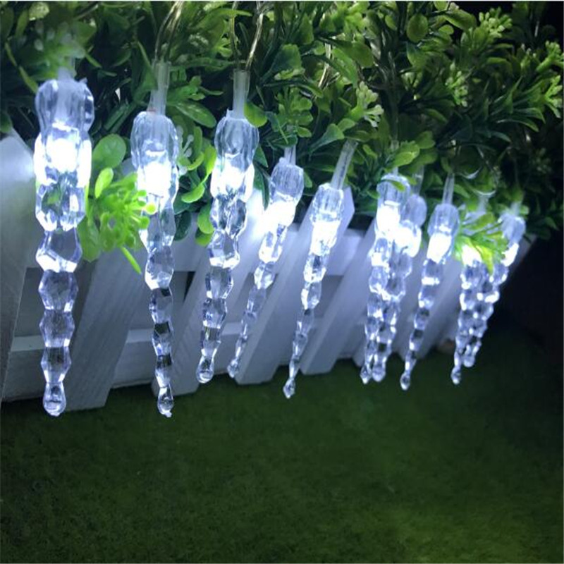 Christmas Garland LED Icicle Battery String Light 3m 20Leds Indoor Drop LED Party Garden Stage Outdoor Decorative Light