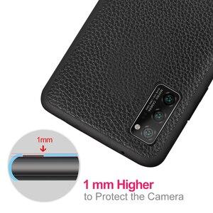 Image 5 - Pour Honor V30 étui V30Pro housse pour Huawei V30 Pro étui MOFi Silicone antichoc verre Capa PU Coque en cuir