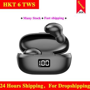 HKT6 TWS Bluetooth 5.0 Earphones Wireless Headphones 9D Stereo Sports Earphones PK i500 i9000 Pro Tws Fone De Ouvido Auriculares