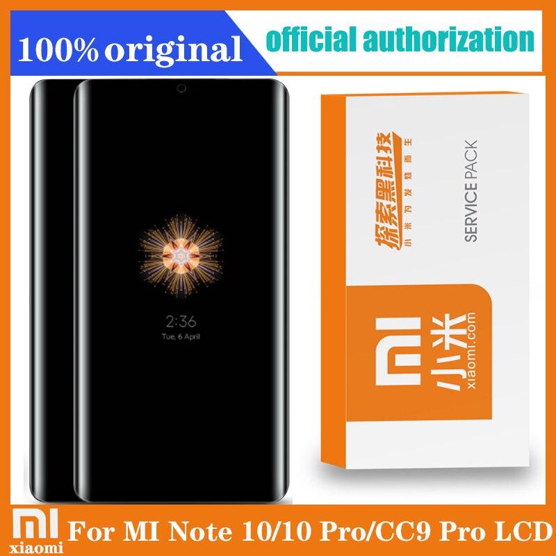 "100% Original 6.47 ""AMOLED LCD + rahmen für XiaoMi Mi Hinweis 10 Hinweis 10 Pro Display Mi CC9 Pro touchscreen Digitizer Reparatur Teile"