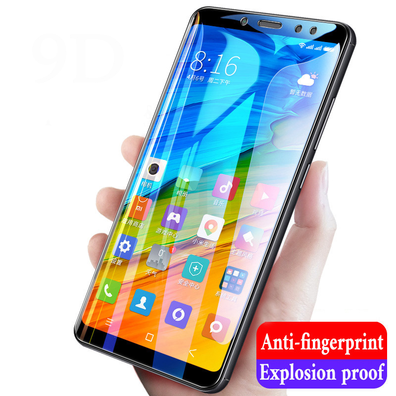 9H High Quality Full Cover Tempered Glass For Xiaomi Redmi Note 5 Pro Screen Protector For Redmi 5 Plus Protective Glass Film