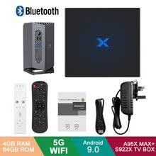 A95X Max Plus+ Android 9.0 TV Box Amlogic S922X 4GB RAM 64GB