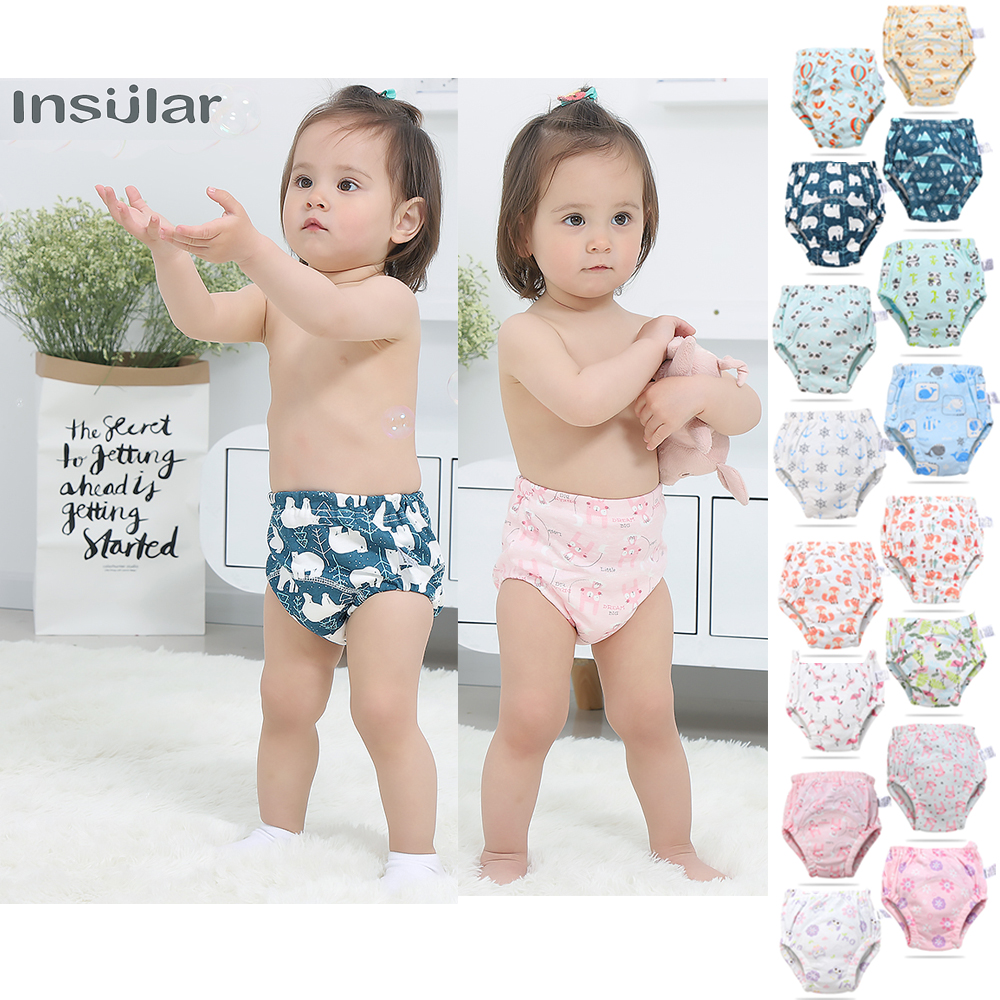 Baby Training Pants Cute Baby Diapers Reusable Nappy Cloth Diaper Washable Kids Baby Cotton Training Pants Panties Nappy