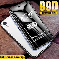 99D protective glass for iPhone 6 6S 7 8 plus X XR XS 11 pro MAX glass on iphone 7 6 11 X XS MAX XR screen protector protection