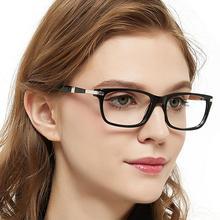 Occiキアリ光学ガラスフレーム女性ヴィンテージ青遮光メガネコンピュータメガネ医療処方eyeglasse目
