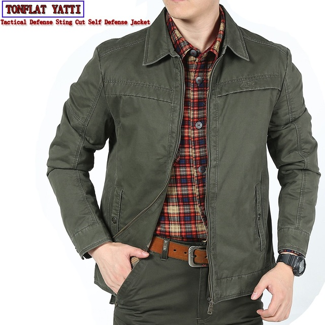 Anti cut And Stab resistant Plus Size Men Denim Shirt Self defense Military Tactics Invisible Police Swat Fbi Safety Clothing