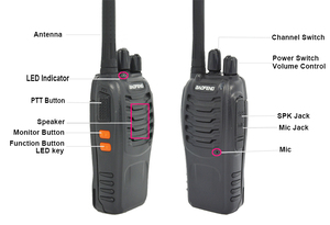 Image 2 - Baofeng Walkie Talkie BF888S BF 888s 5W, 16 canales, UHF, 400 470MHz, BF, 888S, 4 unidades